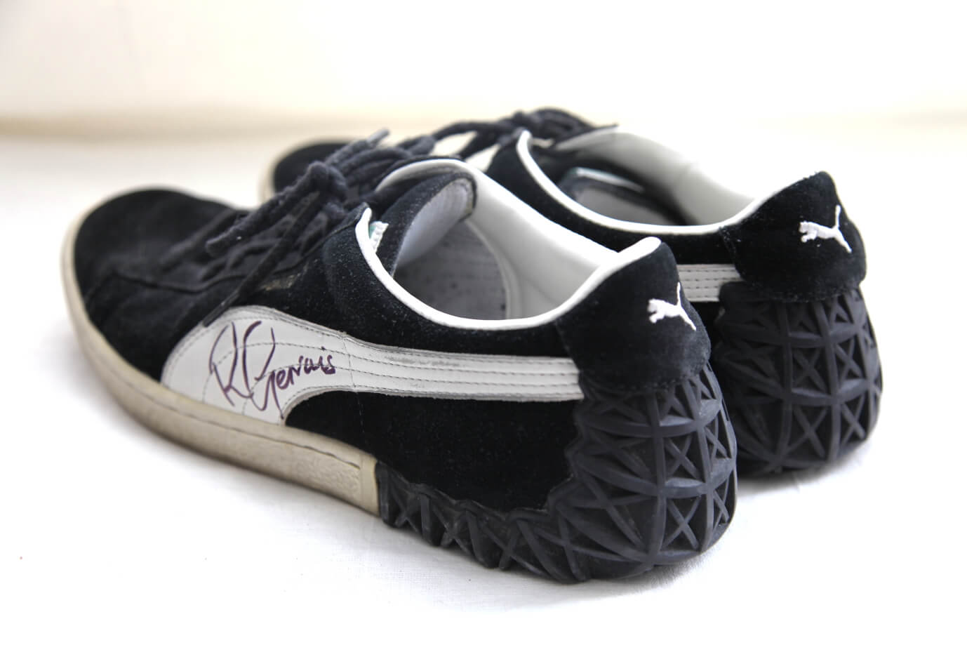 """2012:Ricky donated his Puma trainers in a size 8 andtold us, """"I wore these shoes when I guest starred in Curb Your Enthusiasm and on my HBO special Talking Funny. I hope they go to a good home and raise loads of cash for this wonderful cause"""""""