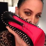 Nicole Richie with her shoes