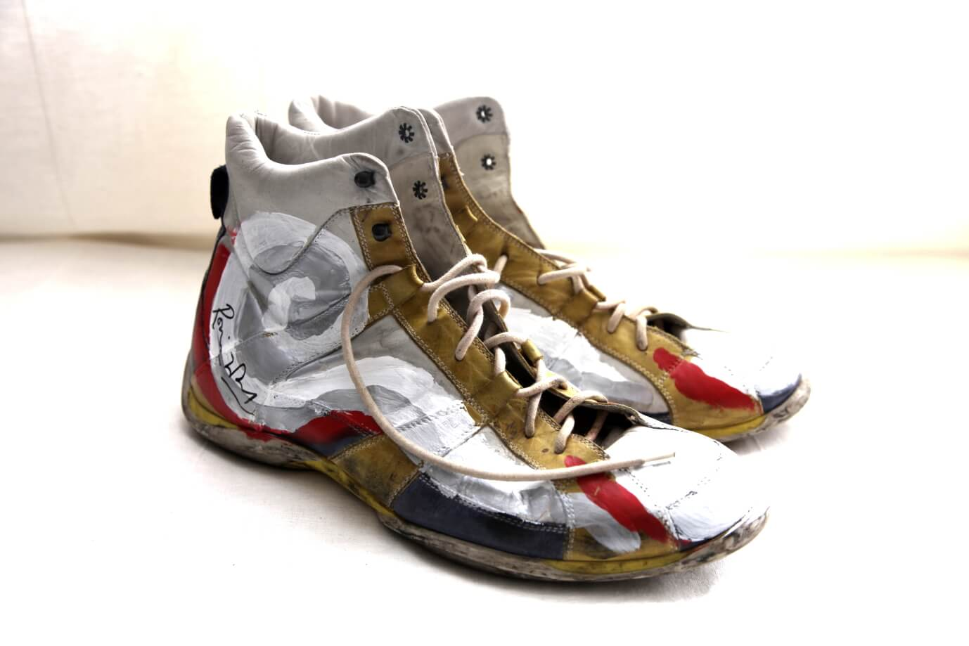 The shoes Ronnie painted and donated in 2012