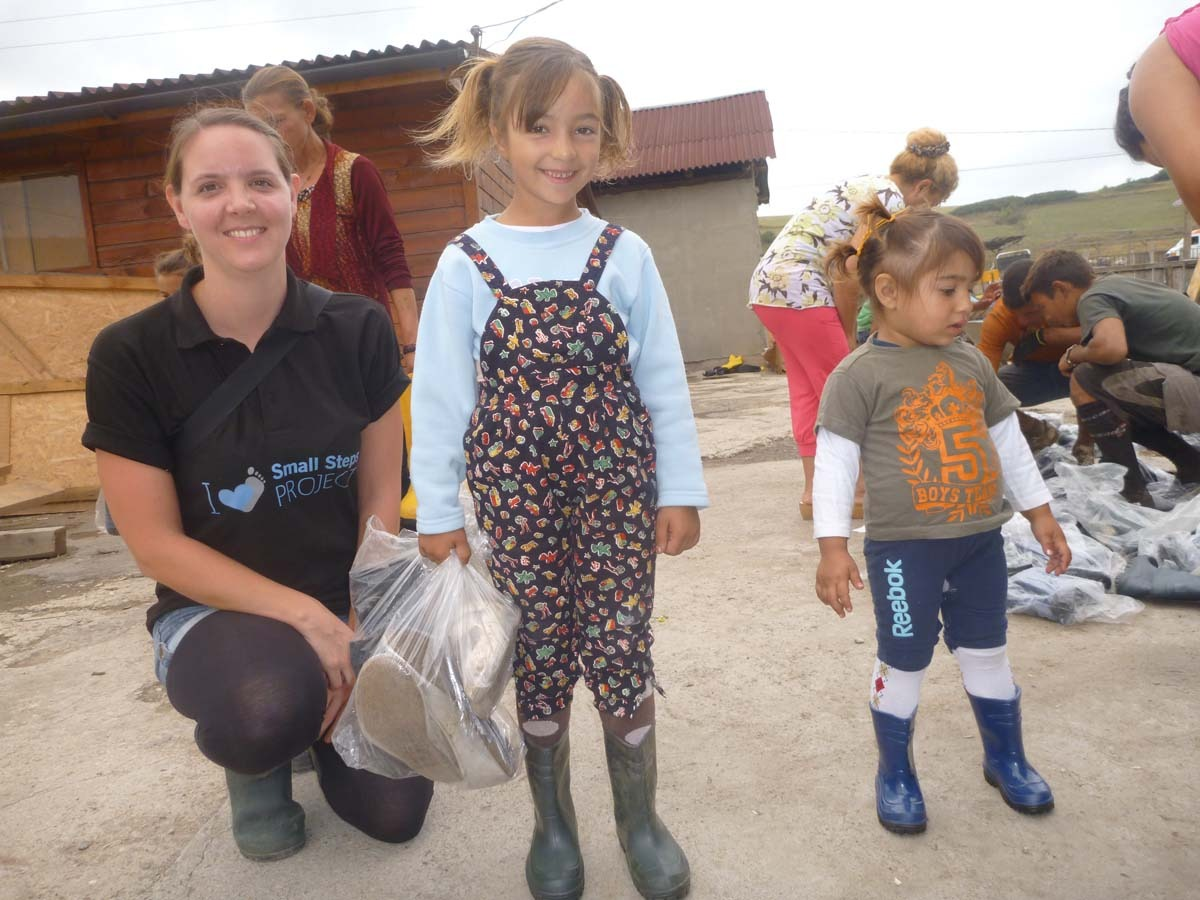 This girl lives in the Dallas camp and was very happy with her new boots!