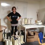 These boots came from Protectoplast and we sorted these at the SSP office before sending to Romania.