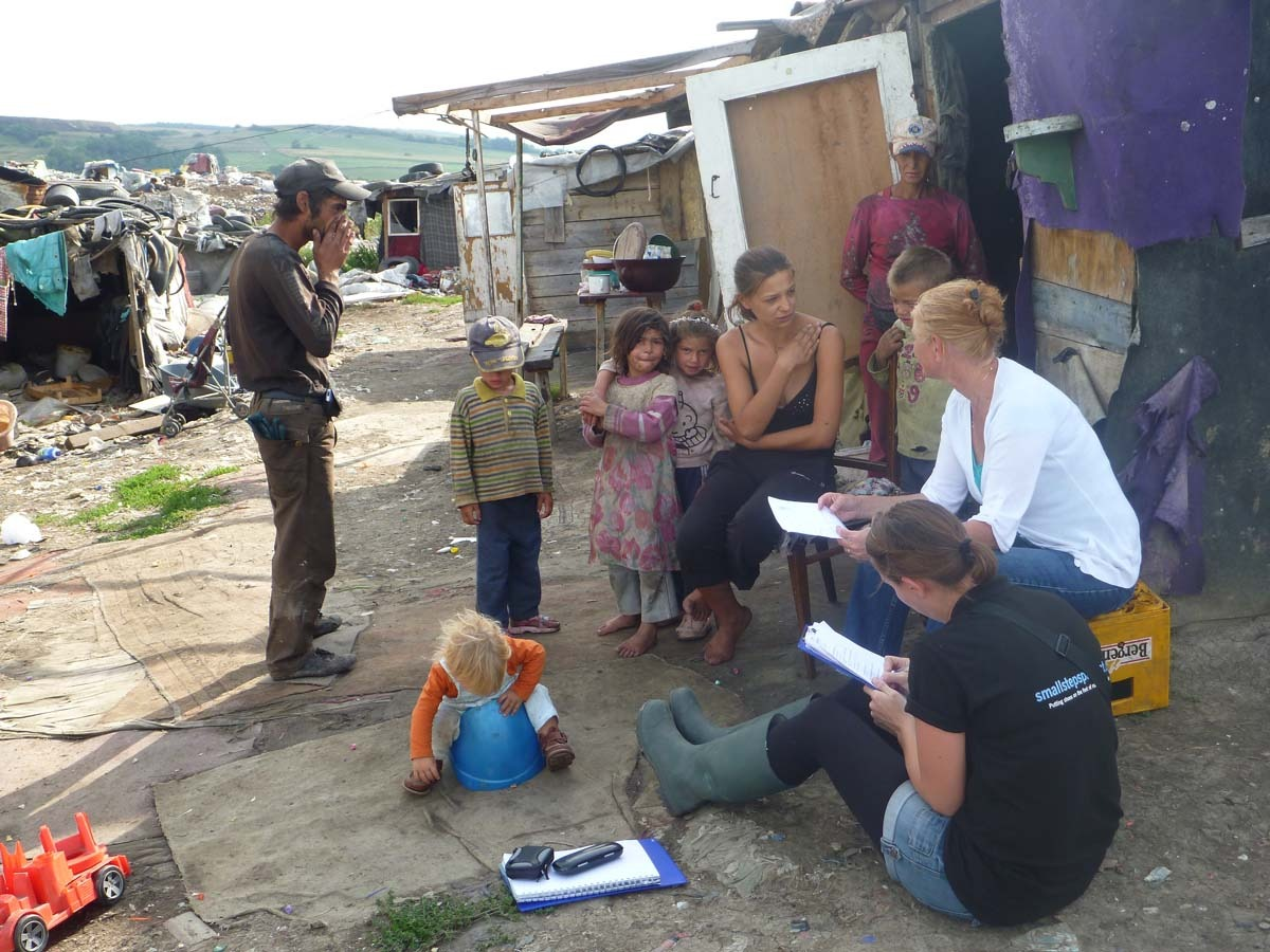 Margariet introduced us to Stoica and her family who live in the middle of the dump and have been there for 13 years. They are determined that their children will get an education and find work away from the dump when they are older.