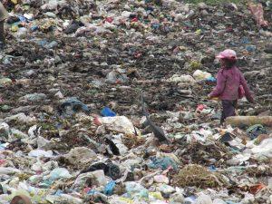 Some children work on the dump alone.