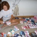 Kirstie sorted over 100 pairs of shoes and boots for the babies and toddlers.