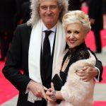 Anita Dobson with her husband Brian May