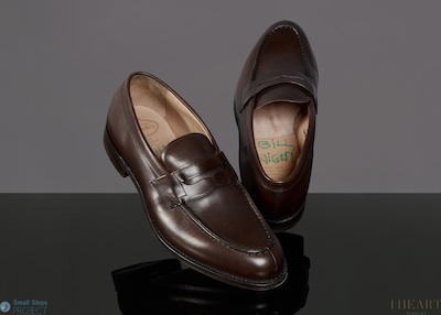 In 2014 he donated brown Church's loafers in a size 95.