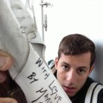 Mark Ronson with his donated shoes