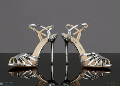 Natalie's gorgeous shoes donated in 2013 are by Charlotte Olympia.