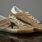Gallagher's donated Golden Goose Deluxe trainers are a size 8.