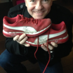 2013: Ricky donated Puma trainers in a UK size 8.