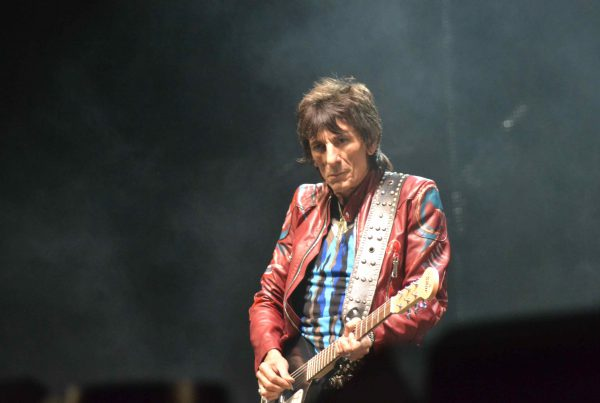 Ronnie performing at Glastonbury Festival in 2013
