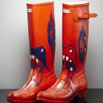 Ronnie Wood's boots painted post Glastonbury 2013