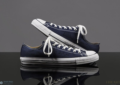 In 2013, Tom donated his Converse, which were our highest seller at £4,500