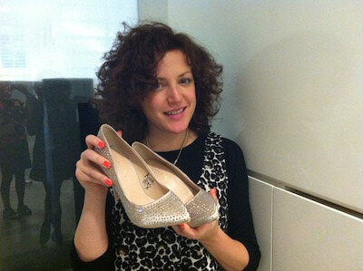 The gorgeous Annie Mac with her signed shoes