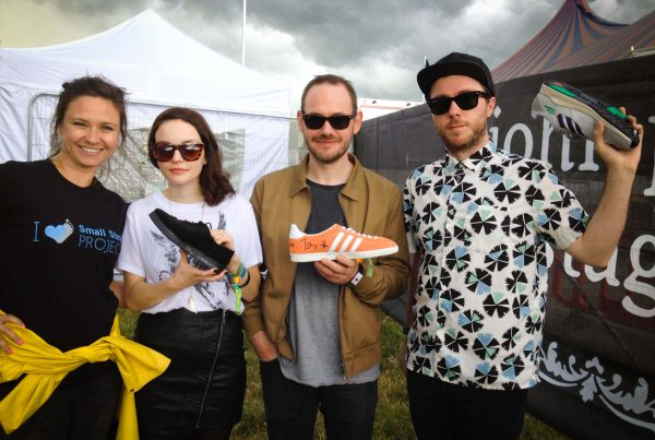 From left to right - SSP's Alex, Lauren Mayberry, Ian Cook and Martin Doherty