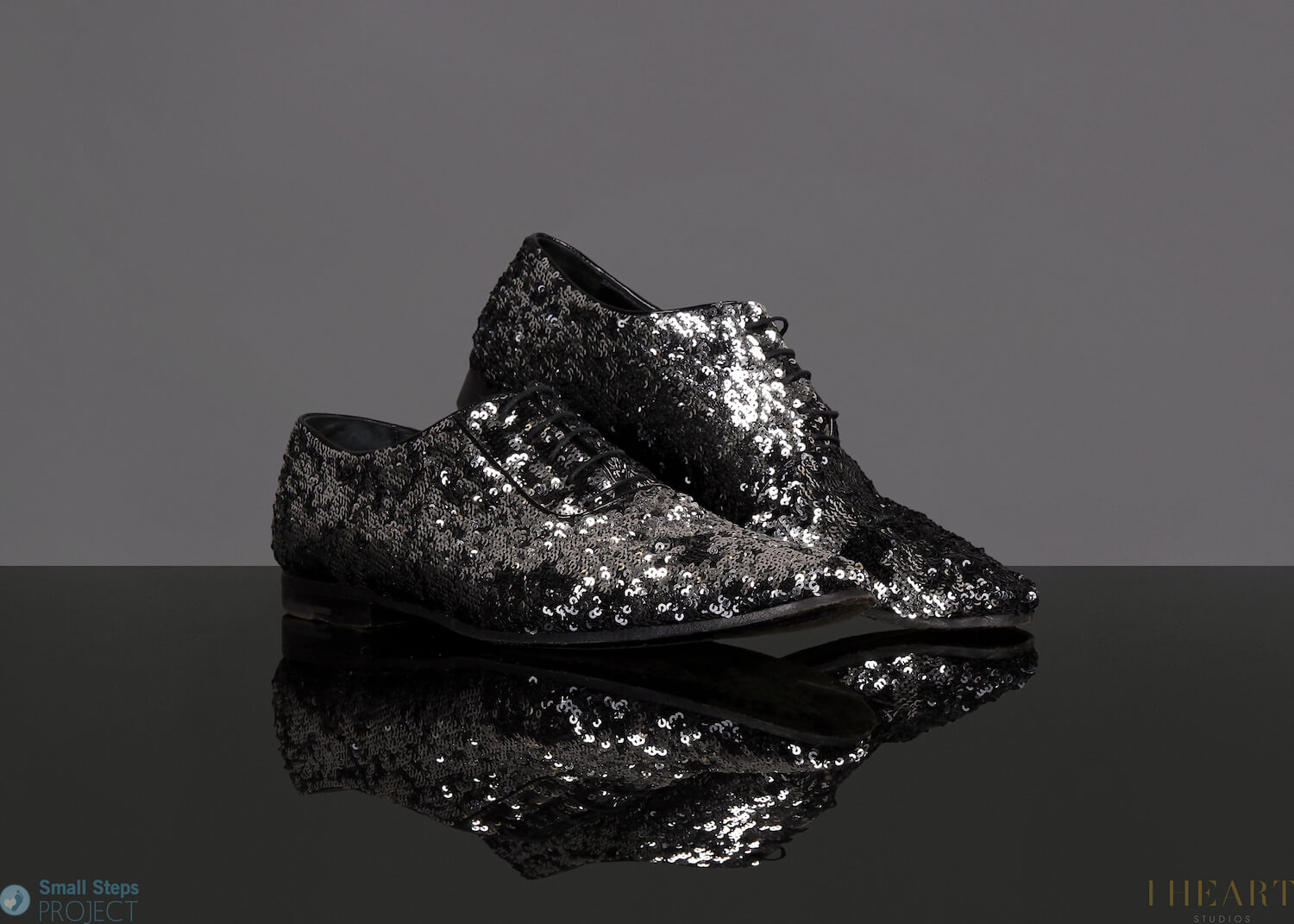 In 2014 he donated his infamous Louis Vuitton sparkly shoes. Sold for £2250