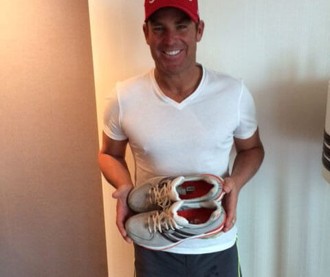 Shane with his shoes