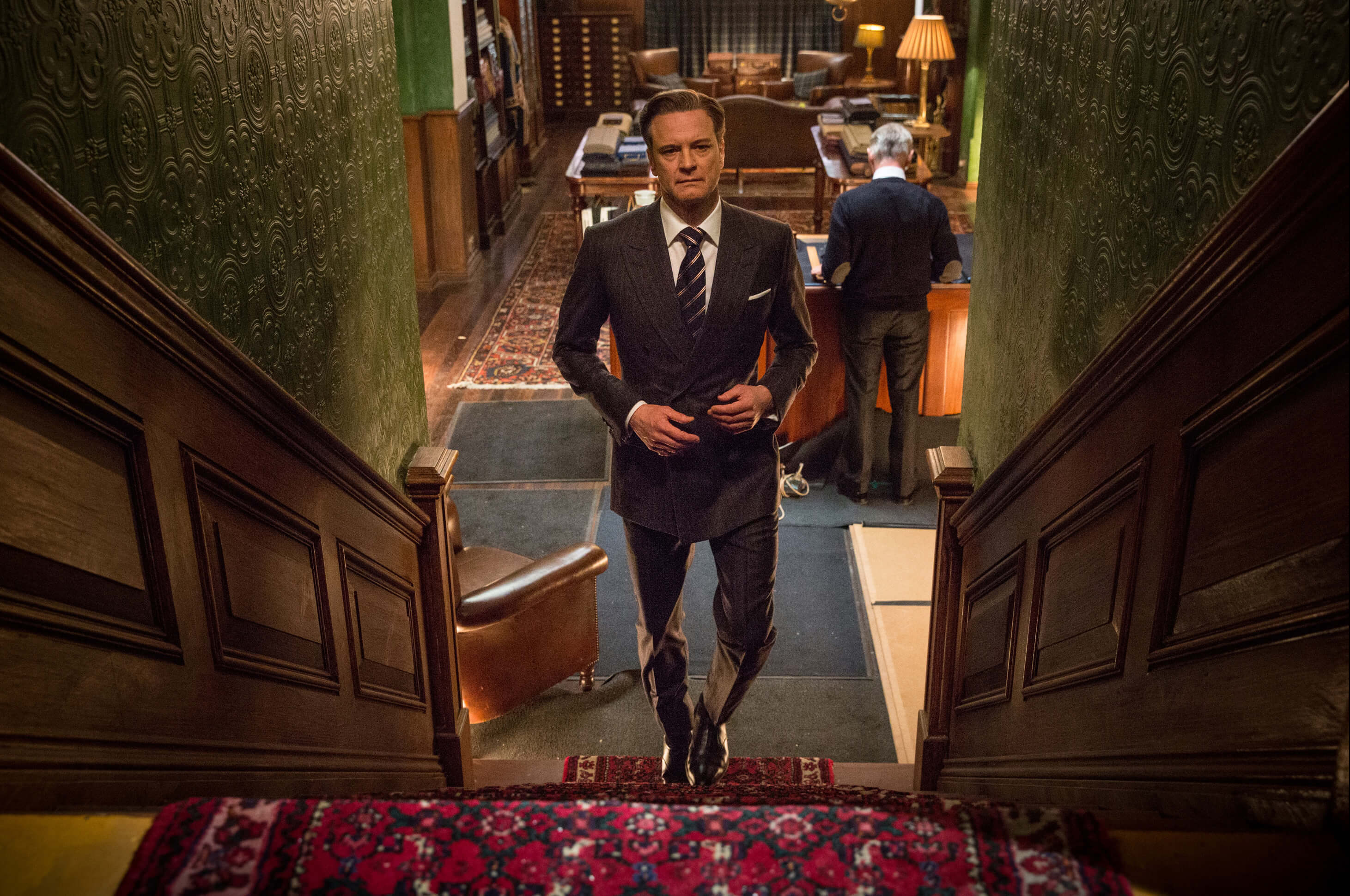 Colin in the movie Kingsman: The Secret Service