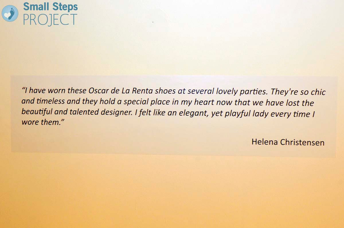 Our fantastic supporter Helena Christensen explaining why these shoes are so special.
