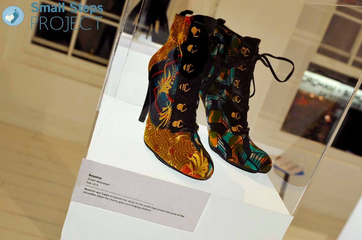 Beyonce's shoes arrived just in time to be exhibited.