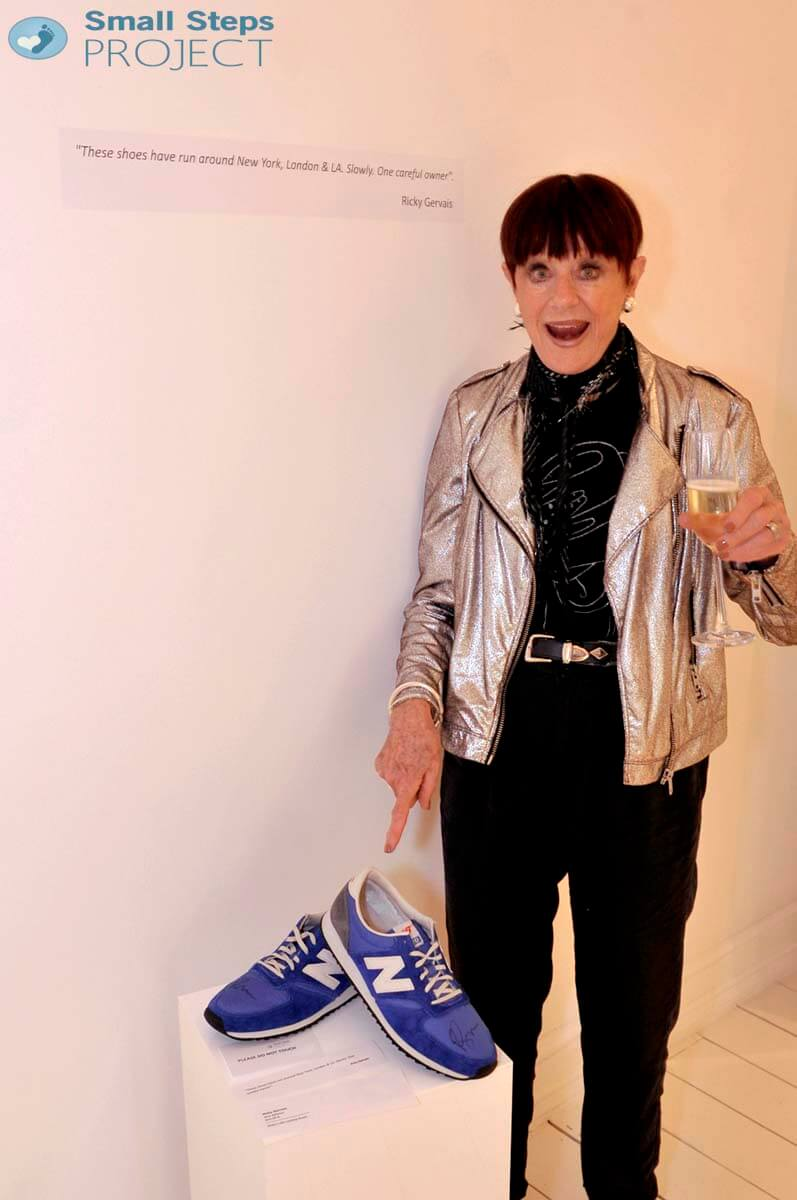 Ricky Gervais' running shoes!