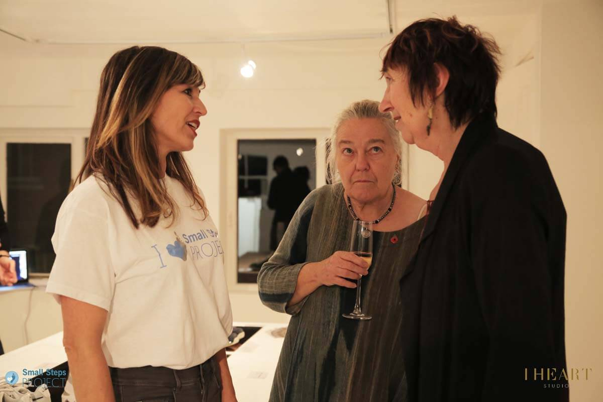 Korinna from Sellebrity (left) with Small Steps trustee and Guardian journalist Michele Hanson (right).