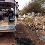 Arriving on a site within the vast KM36 rubbish dump.