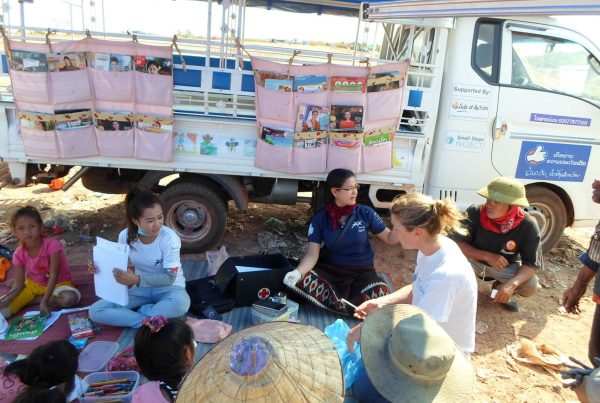 CEO Amy Hanson on site visit with the Peuan Mitt delivery team.