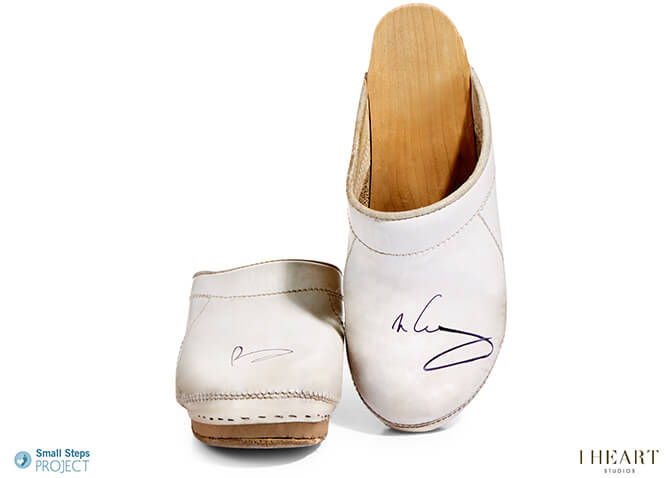 Brian May - 2016 - White Leather Clogs