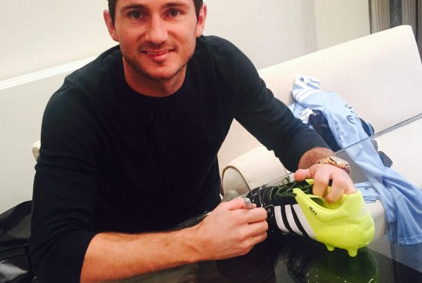 Frank Lampard with his donated pair of shoes